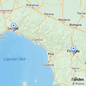 Florence Genoa bus trip