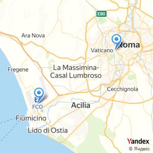 Voyage en bus Fiumicino Airport FCO Rome