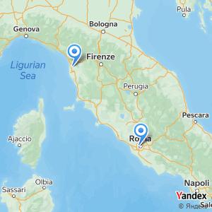 Viaggio in pullman Roma Pisa