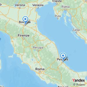 Viaggio in pullman Pescara Bologna