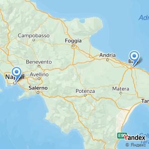 Viaggio in pullman Bari Napoli