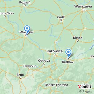Podróż autobusem Kraków Wrocław