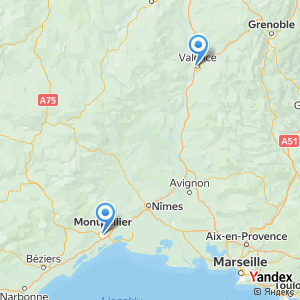 Voyage en bus Valence Montpellier