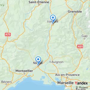 Voyage en bus Valence Nimes