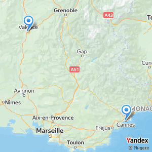 Voyage en bus Valence Cannes