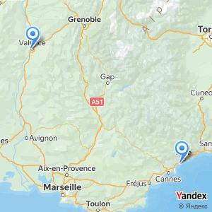 Voyage en bus Valence Aéroport Nice Côte d'Azur NCE