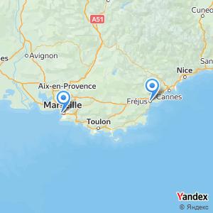 Voyage en bus Marseille Fréjus