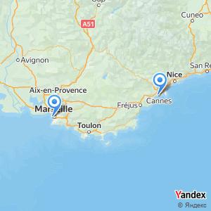 Voyage en bus Marseille Cannes