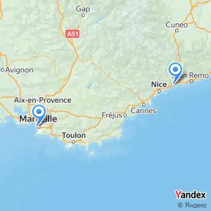Voyage en bus Marseille Menton