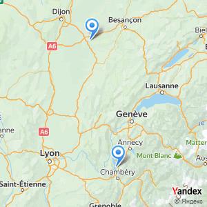 Voyage en bus Aix les Bains Dole