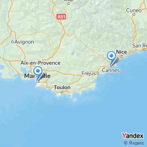 Voyage en bus Cannes Marseille