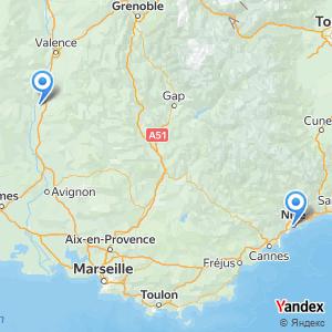 Voyage en bus Nice Montélimar