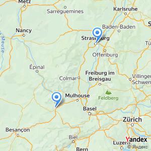 Voyage en bus Strasbourg Belfort