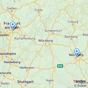 Voyage en bus Francfort-sur-le-Main Nuremberg