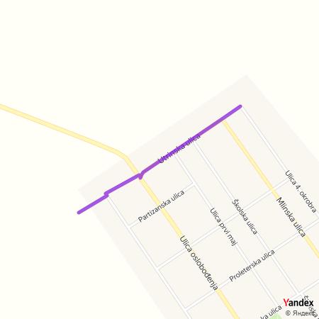 Утринска улица на Yandex мапи
