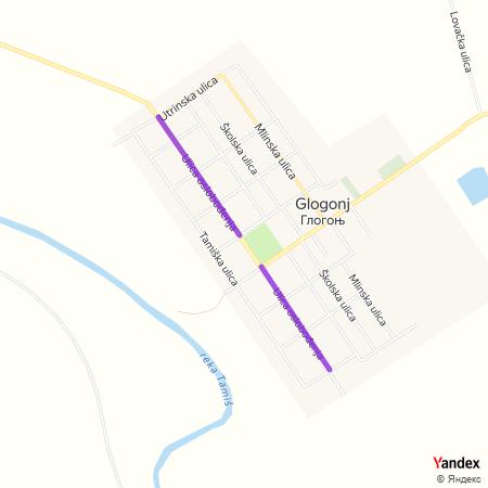 Улица ослобођења на Yandex мапи