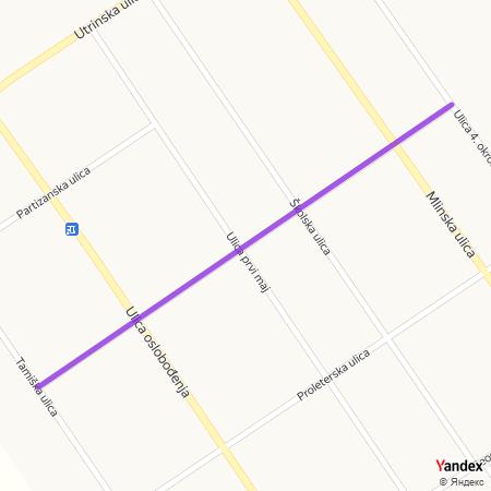 Улица 29. новембар на Yandex мапи