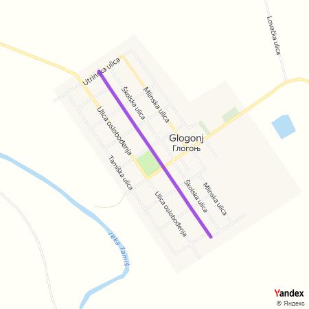 Улица први мај на Yandex мапи