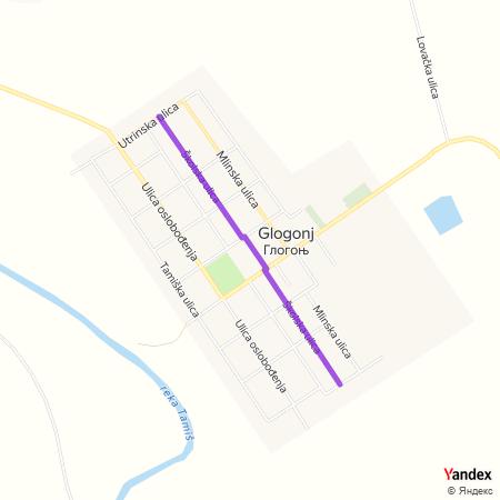 Школска улица на Yandex мапи