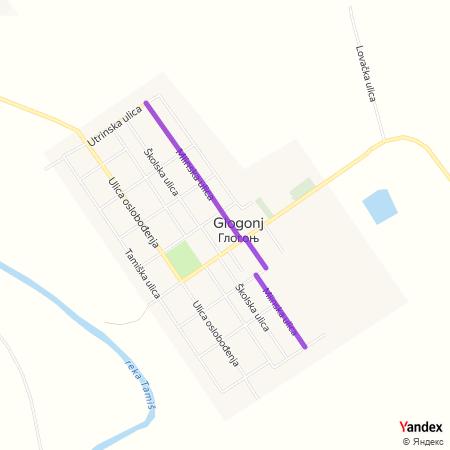 Млинска улица на Yandex мапи