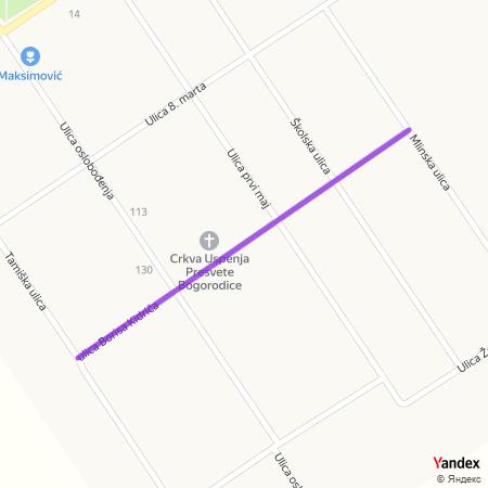 Улица Бориса Кидрича на Yandex мапи