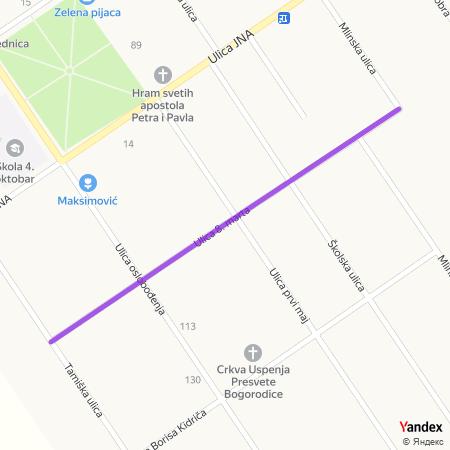 Улица 8. марта на Yandex мапи