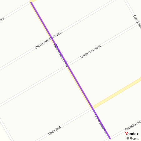Охридска улица на Yandex мапи