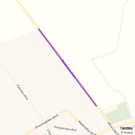 Ратарска улица на Yandex мапи