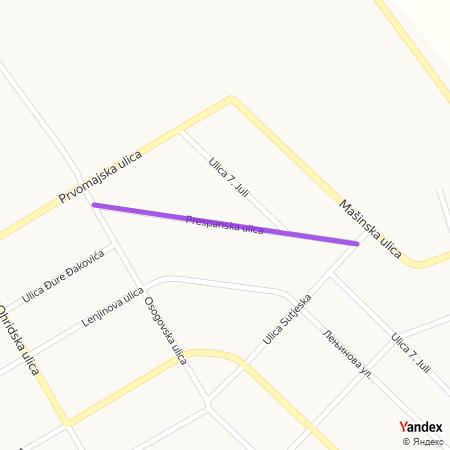 Преспанска улица на Yandex мапи