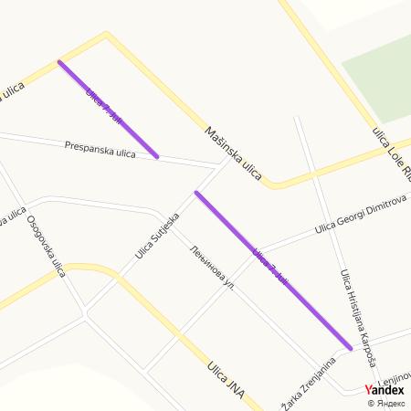 Улица 7. јули на Yandex мапи