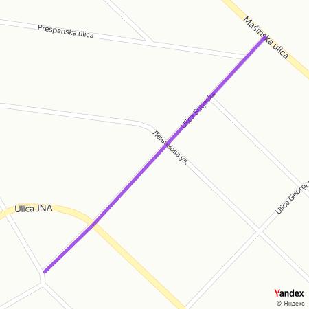 Сутјеска улица на Yandex мапи