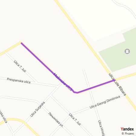 Машинска улица на Yandex мапи