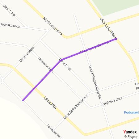 Улица Георги Димитрова на Yandex мапи