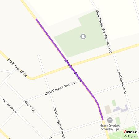 Улица Лоле Рибара на Yandex мапи
