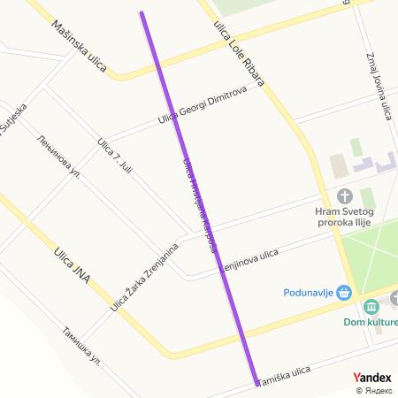 Улица Христијана Карпоша на Yandex мапи