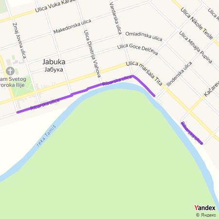 Рибарска улица на Yandex мапи