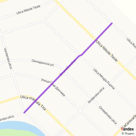 Струмичка улица на Yandex мапи
