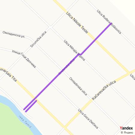 Илинденска улица на Yandex мапи