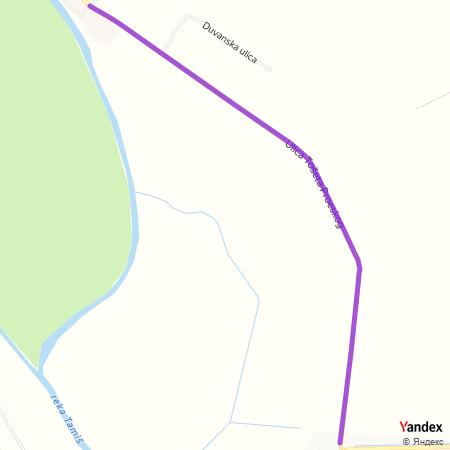 Улица Тошета Проеског на Yandex мапи