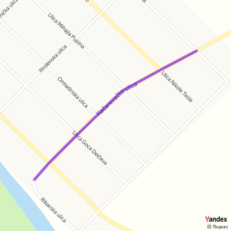 Качаревачка улица на Yandex мапи