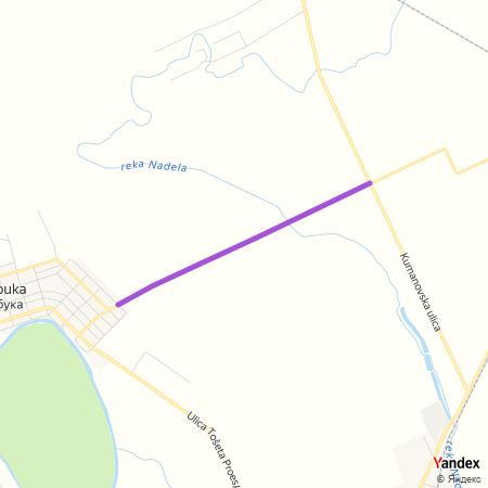Пчињска улица на Yandex мапи