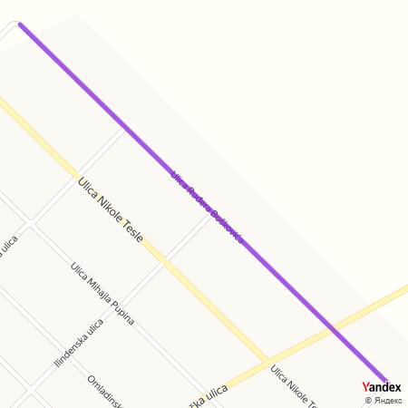 Улица Руђера Бошковића на Yandex мапи