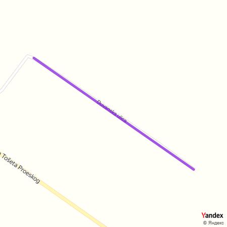 Дуванска улица на Yandex мапи