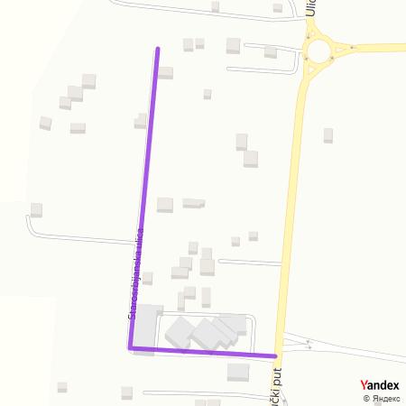 Старосрбијанска улица на Yandex мапи