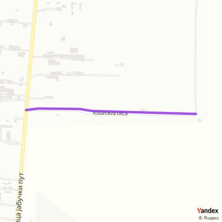 Коларчева улица на Yandex мапи