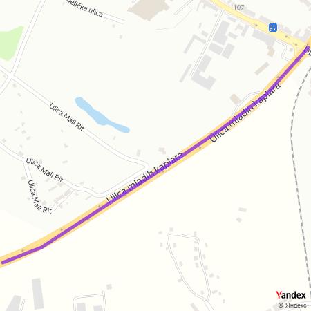 Улица младих каплара на Yandex мапи