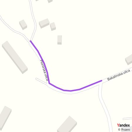 Пионирска улица на Yandex мапи