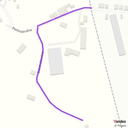 Бакалинска улица на Yandex мапи