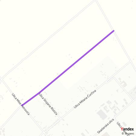 Улица др Борислава Јанкулова на Yandex мапи