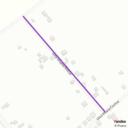 Улица Стојана Ристића на Yandex мапи